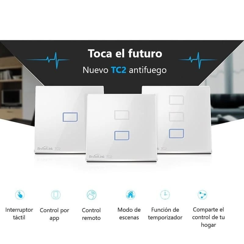 Interruptor wifi pared TC2 1 botón