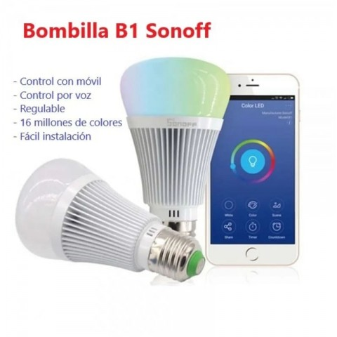 Bombilla wifi sonoff color