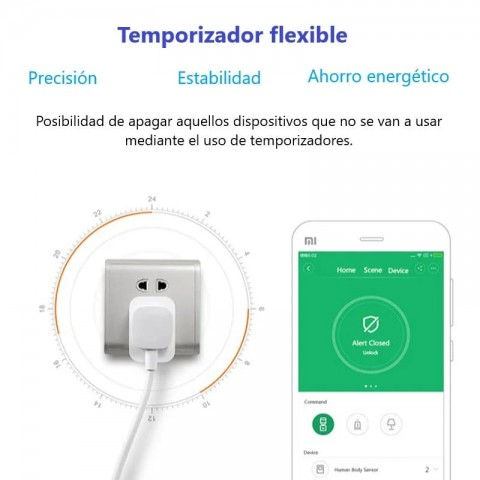 Enchufe inteligente Xiaomi temporizador