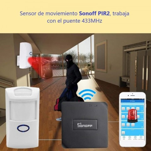 Sensor movimiento Sonoff wifi